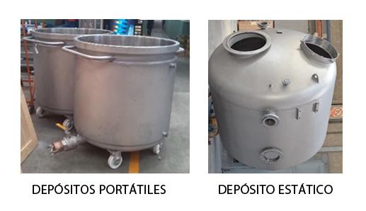 depósitos para dispersión