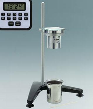 medir la viscosidad con viscosímetro de orificio