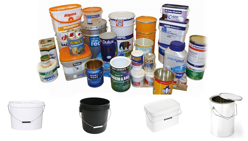 dispensadores de envases de pintura