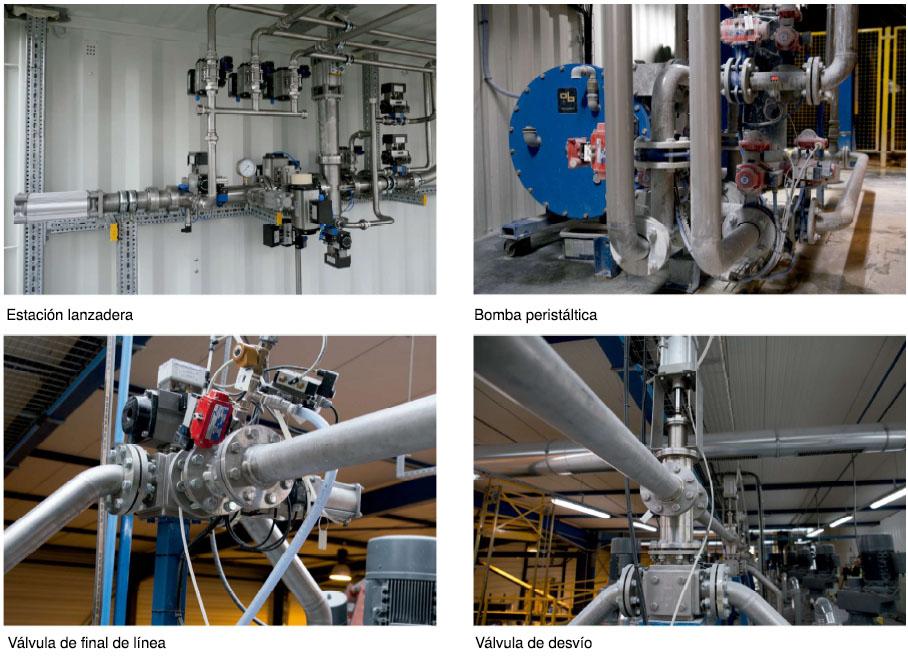 componentes sistema limpieza de tuberias