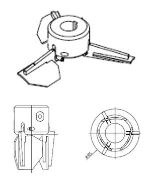 turbina sabre de brazos abatibles IBC